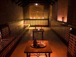 Sala para el aperitivo en el Aljibe de San Miguel de Granada